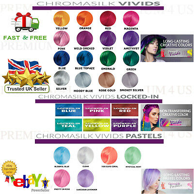 NEW! PRAVANA CHROMA SILK VIVIDS DEMI PERMANENT HAIR DYE MIX All COLORS UK SELLER
