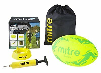 Mitre Rugby Training Pack Rugby Starter Set Rugby Ball Bag Pump Tee Size 5 New