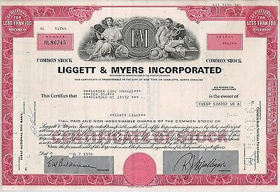 Liggett & Myers Incorporated 1974- L & M Zigaretten (68 Shares)