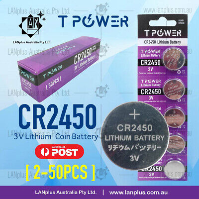 2x 5x 10x CR2450 3V Lithium Battery STOCK IN Melbourne Button Coin Cell CR-2450