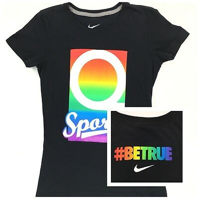 94da72fe Nike BE TRUE #BETRUE Collection LGBTQ Pride Queer Sports T-Shirt Womens  Size XS