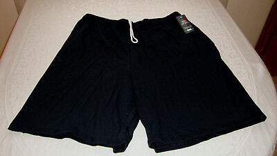 Unisex Fruit of the Loom Jersey Shorts Black Size Large NEW With Tags