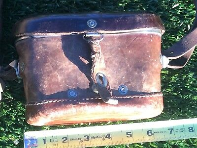 Vintage leather binocular case