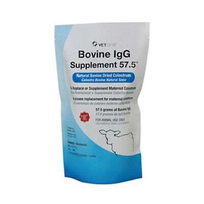 VetOne Natural Bovine Dried Colostrum IgG 57.5g Replacement Supplement 320 gm