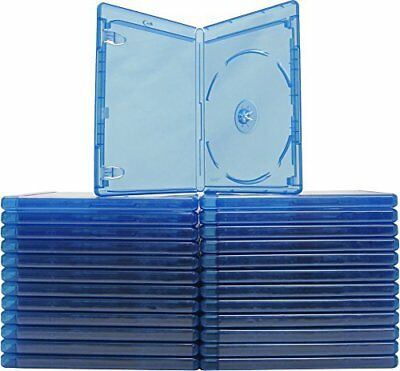 (25) Blu-ray Cases 10mm 1-Disc SINGLE  w/ Logo Empty Replacement Case NEW!