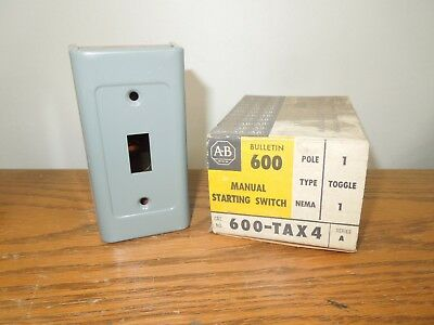 Allen Bradley 600-TAX4 Manual Starting Switch **Enclosure Only** New Surplus