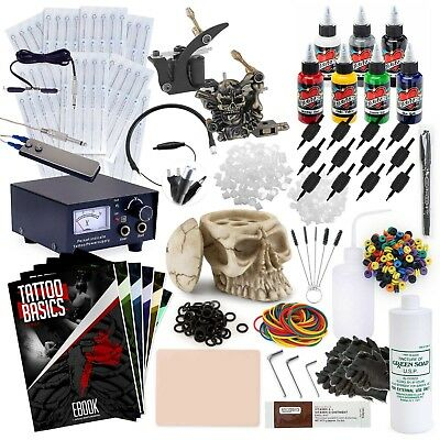 TOP QUALITY Rehab Complete Tattoo Kit Set with Machine Guns Needles and Moms Ink