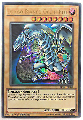 DRAGO BIANCO OCCHI BLU  in Italiano LCKC-IT001 Ultra Rara  YUGIOH