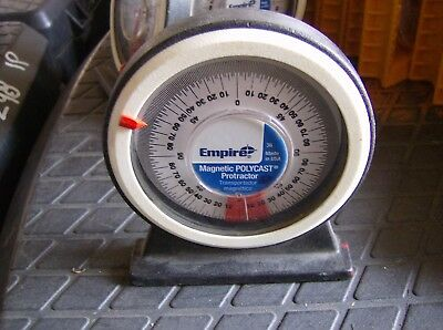 Empire Magnetic Protractor Polycast Angle Finder Used