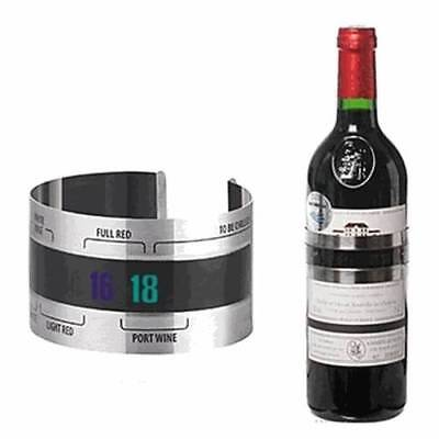 Stainless Steel Wine Bracelet Thermometer LCD Temperature Thermochromic Checkers