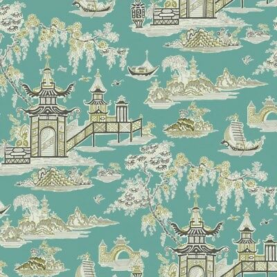 Leaf Ivy Toile Wallpaper SM21575 green tones easy to remove /& install prepasted