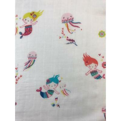 Baby Blanket Muslin bamboo fiber Newborn Swaddle Mermaid Blanket 47/'/'x 47/'/'