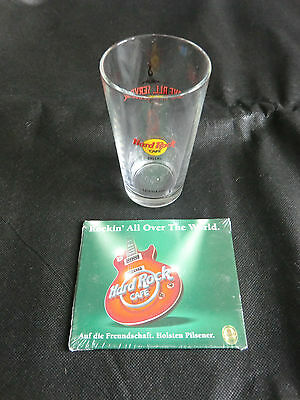 "Hard Rock Cafe Glas "" Dallas"" und CD "" Rockin all over the world"""