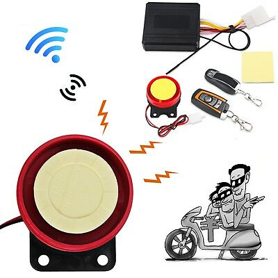 Motorcycle Bike Alarm System Scooter Anti-theft Security Alarm System Remote