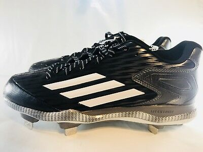huge selection of 7878f 868af Adidas PowerAlley 3 Metal Baseball Cleats Size 8 Black White Grey S84762