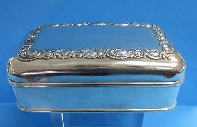 Sterling Silver Shreve & Co. Hinged Lid Jewelry Box -- Free Shipping