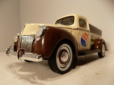 1940 Ford Pick Up Pepsi Cola Pepsi cops 1/18th Deie Cast Metal NOS MIB