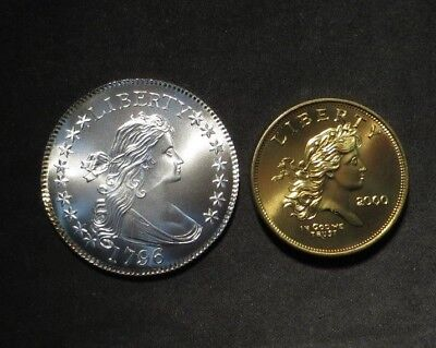 1796 Flowing Hair Half Dollar Restrike and 2000 Concept Dollar- Gallery Mint