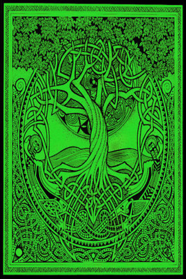"""NEW Tree of Life Cotton Tapestry by Courtney Davis 60x90"""" Celtic Wall Hanging"""