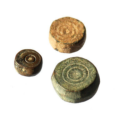 Lot of 3 AE Byzantine commercial weights