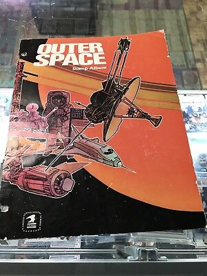 Postal Outer Space Stamp Album Stamp Collecting Kit Vintage Complete