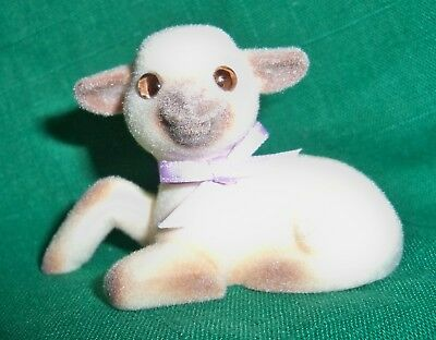 HALLMARK Merry Miniature 1985 Easter Flocked Lamb