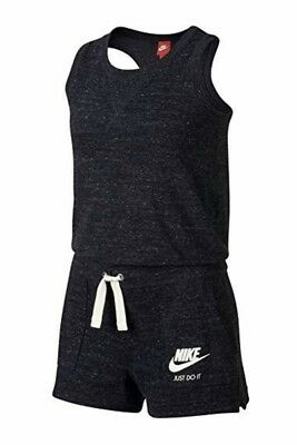 Nike Youth Girl Sport Race Back Rompers Jumpsuit Heather Blue Sz Small NWT
