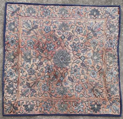 Broderie tapis ancien antique rug Soie Silk Tribal Persan Oriental 1800