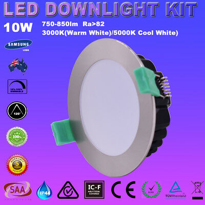 10W Dimmable Led Downlights Kit Warm/daylight White/cool White Samsung Leds Ip44