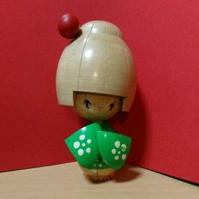Antique kokeshi Japanese popular doll Japan retro antique beautiful EMS F/S!