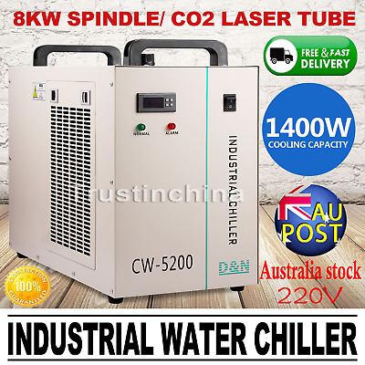 CW-5200AG Industrial Water Chiller for 130W CO2 Laser Tube Cooling 220V 50Hz AUS