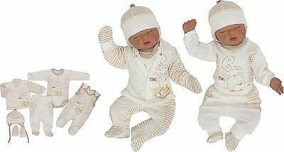 6 Tlg Set Baby Starterset First Outfit 50 56 62 68 100% Cotton Unisex