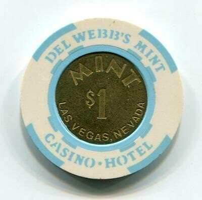 Downtown Las Vegas Nv MINT $1 Casino Chip house mold coin brass 1988 CR#N1919