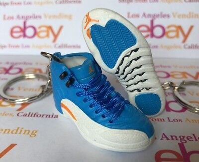 Nike Jordan XII Melo 2009 Away PE Nuggets Keychain WITH LACES Thunder Ray Allen