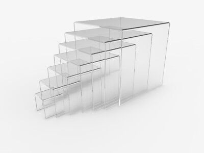 Acrylic Riser Plexiglass Pedestal Lucite Display Risers Jewelry Stand Prop