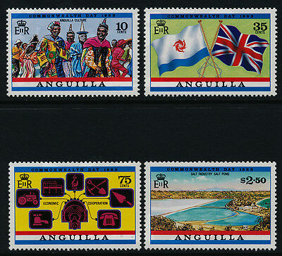 Anguilla 521-5 MNH Commonweakth Day, Flags, Map, Costumes, Salt Industry