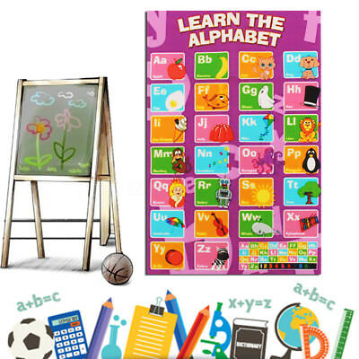 Alphabet Poster Learn My ABC Wall Chart Fun Children's Educational 50cmx33cm
