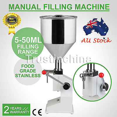 Manual Filling Machine (5~50ml) for cream , shampoo , cosmetic,Liquid filler AU