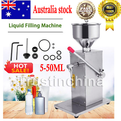 5-50ML Manual Liquid Filling Machine for Cream Paste Shampoo Cosmetic Filler Kit