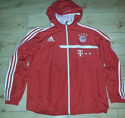 fc bayern m nchen matchworn stadionjacke adidas weste. Black Bedroom Furniture Sets. Home Design Ideas