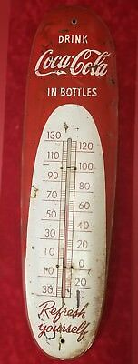 Vintage Original Coca - Cola Coke Cigar Thermometer - Sign Of Good Taste