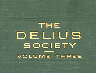"LONDON PHILH. ORCH. & BEECHAM ""The Delius Society Vol. 3""  Schellackplatte  A314"