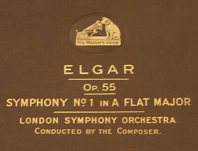 LONDON SYMPH. ORCH. & ELGAR cond. his own piece: Symphony No.1 As-dur Op.55 A316
