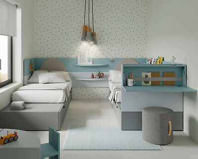 premium hochbett kinderzimmer jugendzimmer inkl kleiderschrank g stebett eur. Black Bedroom Furniture Sets. Home Design Ideas