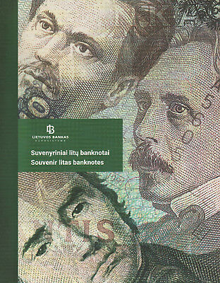 Lithuania 100 500 1000 Litas 1991-1994 UNC NEVER issued in bank folder