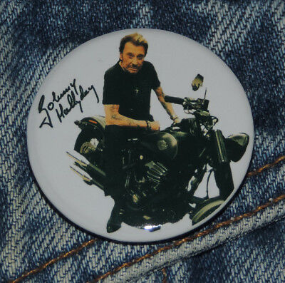 Pin Button Badge Ø38mm JOHNNY HALLYDAY