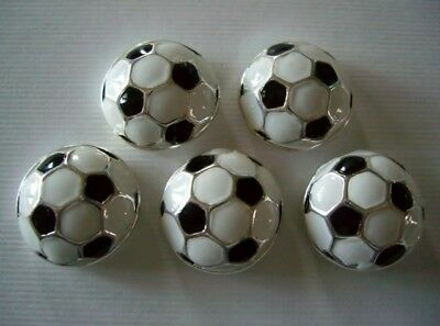 2 Hole Slider Beads Sports Soccer Get Some Goals 5 Pieces