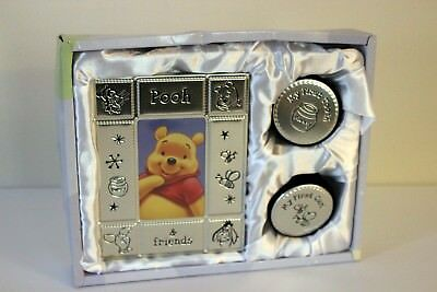 Disney Baby Tooth & Curl Keepsake Pooh Bear and Friends Picture Frame and Boxes!