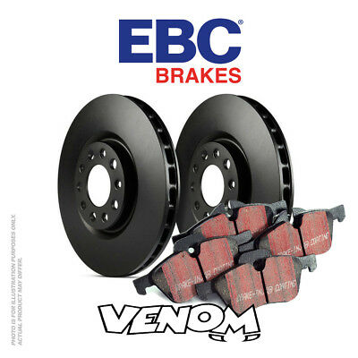 EBC Rear Brake Kit Discs & Pads for Abarth 500 1.4 Turbo 135 2008-2011