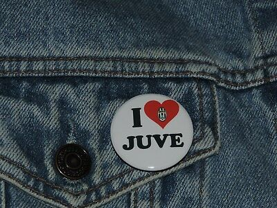 Pin Button Badge Ø38mm ♥ I Love You j'aime la JUVE